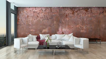 Industrial style wallpaper / abstract motif / non-woven / copper look
