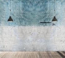Industrial style wallpaper / urban motif / concrete look