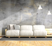 Contemporary wallpaper / urban motif / concrete look