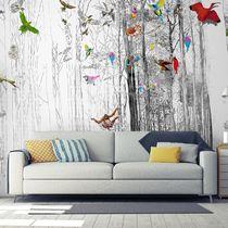 Contemporary wallpaper / nature pattern