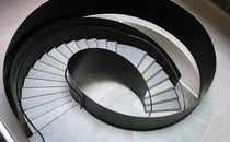 Circular staircase / helical / stone steps / steel frame