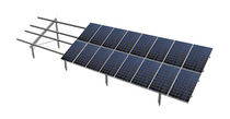 Ground-mount mounting system / for tiled roofs / for photovoltaic panels