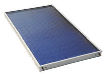 Flat thermal panel / for heating / with anti-reflective glass / with aluminum frame