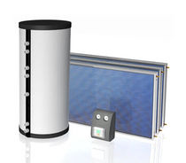 Solar hot water tank / free-standing / residential / forced circulation