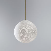 Pendant lamp / original design / blown glass / fluorescent