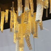 Original design chandelier / porcelain / LED / handmade