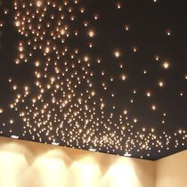 Contemporary ceiling light / composite material / LED
