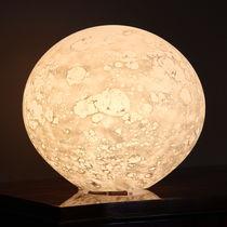 Table lamp / original design / blown glass / interior