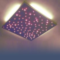 Contemporary ceiling light / square / aluminum / LED