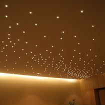 Contemporary ceiling light / glass / LED
