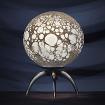 Table lamp / original design / glass / blown glass
