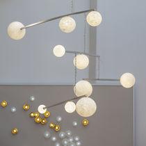 Original design chandelier / blown glass / aluminum
