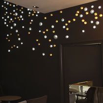 Contemporary ceiling light / round / glass / LED