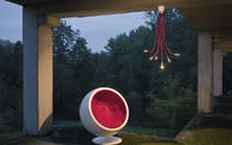 Pendant lamp / original design / porcelain / LED