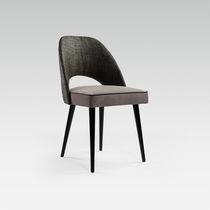 Contemporary chair / upholstered / fabric / beech