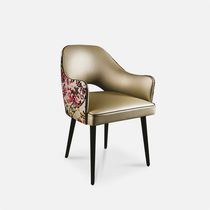 Contemporary restaurant chair / with armrests / upholstered / bistro