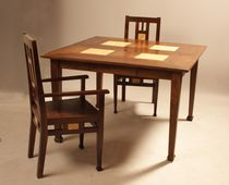 Dining table / square / traditional / wooden