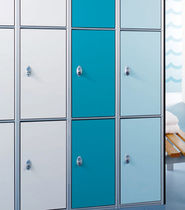 Laminate locker / for public buildings / for sports facilities / for schools