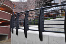 Metal railing / with bars / outdoor / for balconies