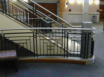 Stainless steel railing / bar / indoor / for stairs