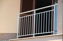 Outdoor railing / aluminum / with bars / for balconies