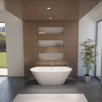 Free-standing bathtub / oval / Solid Surface