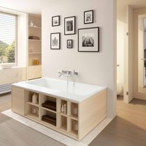 Solid Surface bathtub / with integrated cupboards