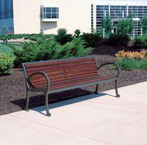 Public bench / contemporary / wooden / plastic