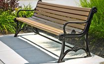 Public bench / traditional / metal / plastic