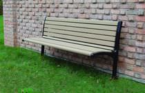 Public bench / contemporary / metal / plastic