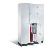Steel locker / for public buildings / commercial