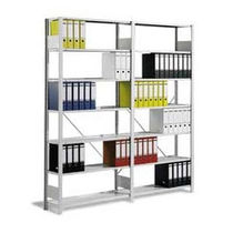 Self-suppporting shelving / contemporary / metal / indoor