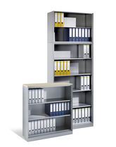 Contemporary shelf / steel / for offices