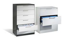 Low filing cabinet / steel / contemporary