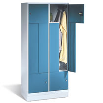 Steel locker / for public buildings / for sports facilities / secure