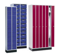 Steel locker / for public buildings / for offices / for industrial use