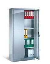 Tall filing cabinet / steel / with hinged door / contemporary