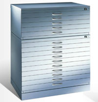 Key lock plan filing cabinet