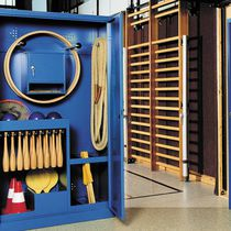 Sports equipment storage cabinet