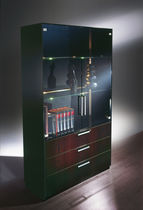 High bookcase / contemporary / wood / for offices