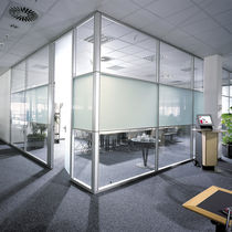 Removable partition / glazed / professional