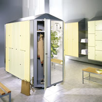 Steel locker / for sports facilities / for industrial use / for medical uses