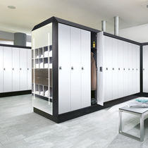 Steel locker / for public buildings / for sports facilities / for industrial use