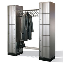 Steel locker / for public buildings / for offices / with open coat rack