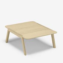 Contemporary coffee table / oak / square