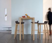 Contemporary high bar table / oak / rectangular