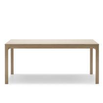 Contemporary table / oak / rectangular / extending