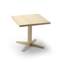 Contemporary bistro table / oak / square / for restaurants