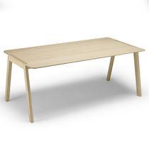 Contemporary table / oak / laminate / rectangular