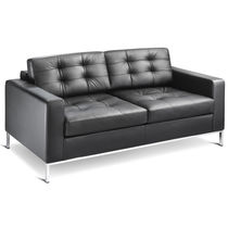 Minimalist design sofa / leather / 2-seater / 3-seater